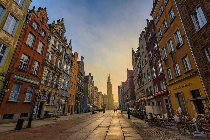 Крупные и красивые города Польши - Гданьск - Историческая часть или Старый город