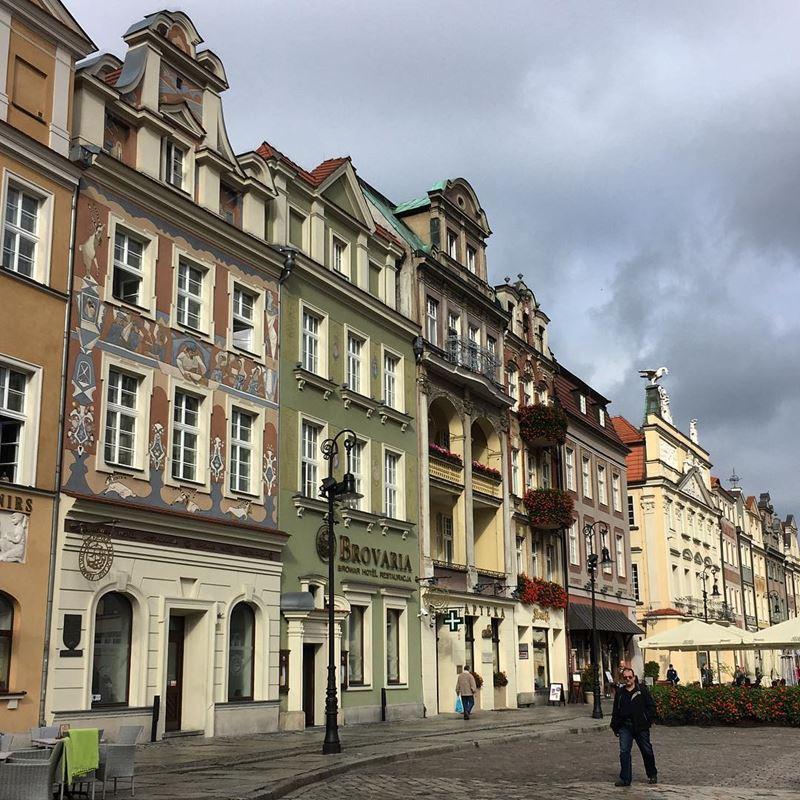 Крупные и красивые города Польши - архитектура Старого города Познани