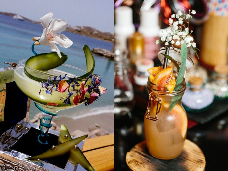 Shangri-La`s Villingili Resort & Spa - тропические коктейли в баре