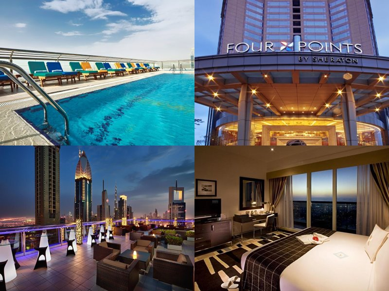 Отели Дубая с бассейном на крыше: Four Points by Sheraton Sheikh Zayed Road(4 звезды)