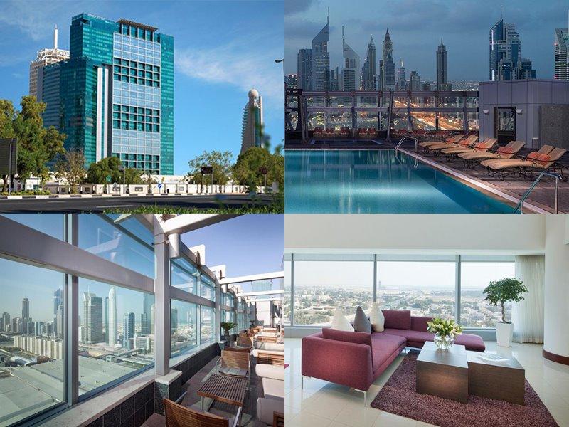 Отели Дубая с бассейном на крыше: Jumeirah World Trade Centre Residence(5 звёзд)