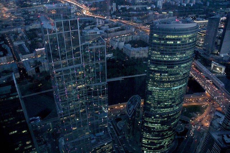Смотровая площадка Panorama 360 - небоскрёбы, вид на Москву