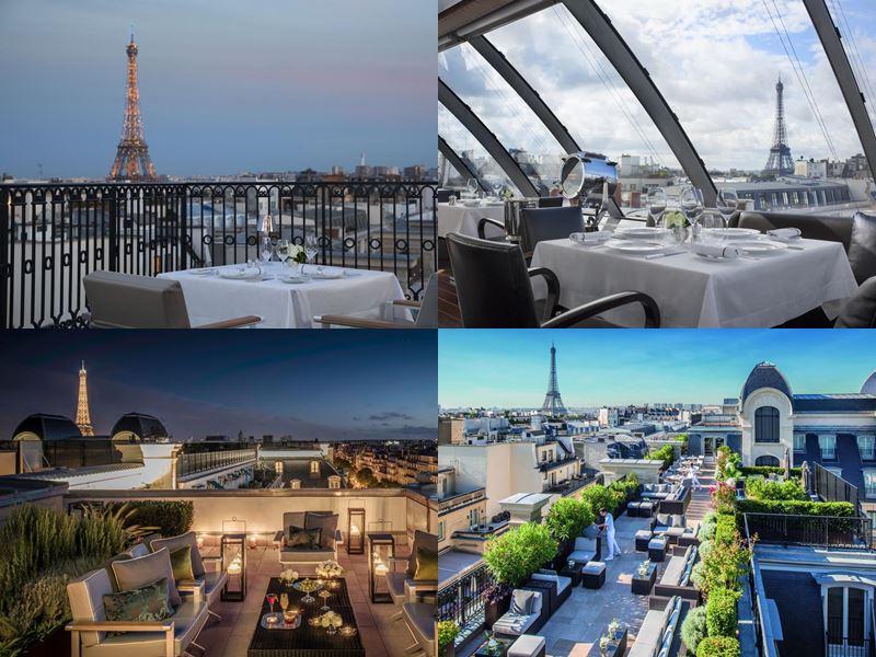Лучшие дорогие отели Франции 2017 - The Peninsula (Париж) - вид на Эйфелеву башню