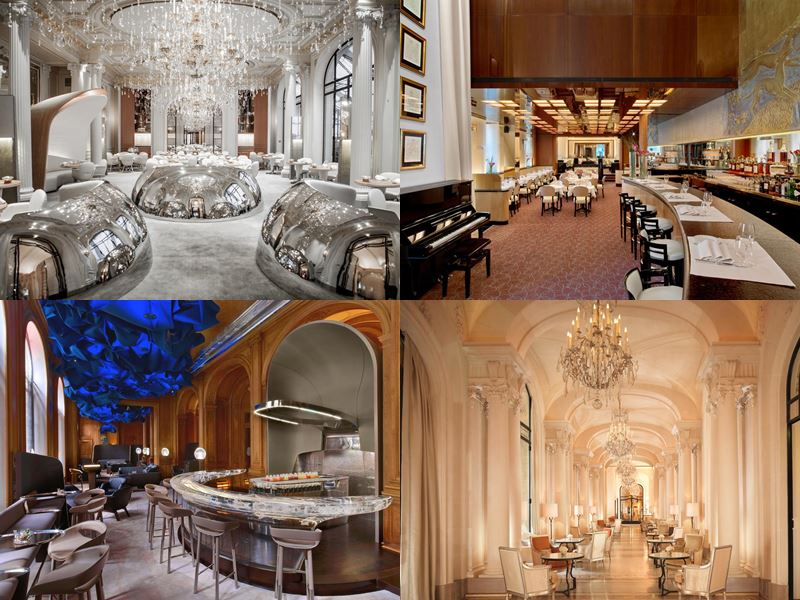 Лучшие дорогие отели Франции 2017 - Four Seasons Hotel George V (Париж) - интерьер ресторанов