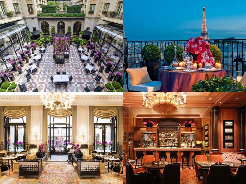 Лучшие дорогие отели Франции 2017 - Hôtel Plaza Athénée - терраса и рестораны
