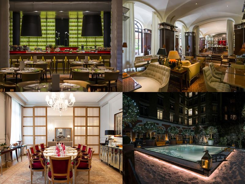 Лучшие дорогие отели Франции 2017 - Le Royal Monceau - Raffles Paris (Париж) - рестораны и бассейн