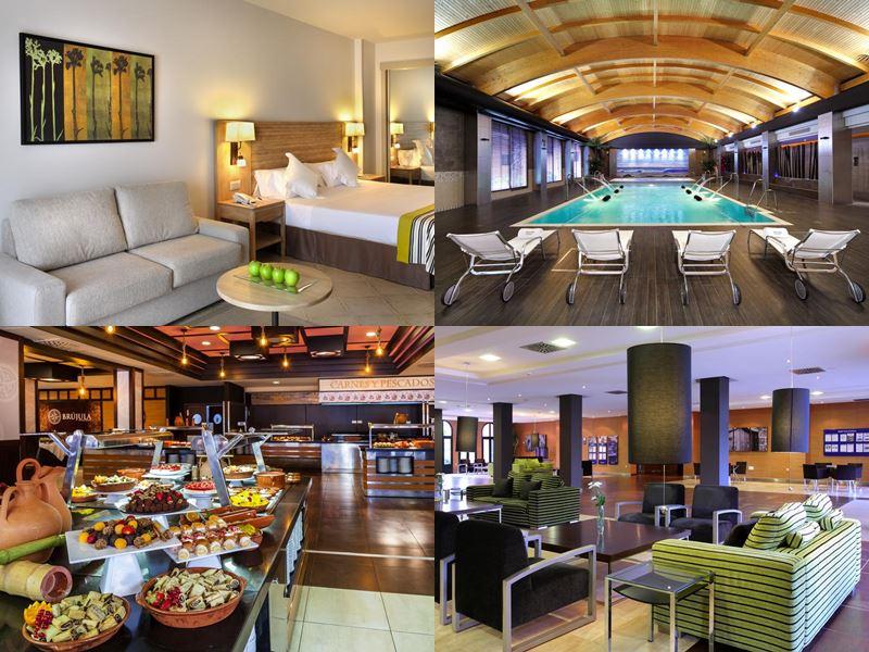 Лучшие пляжные курорты Испании 2017 - Barceló Punta Umbría Beach Resort - номер, бассейн и ресторан