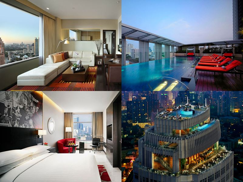 Отели Бангкока с бассейном на крыше - Bangkok Marriott Sukhumvit (5 звёзд)