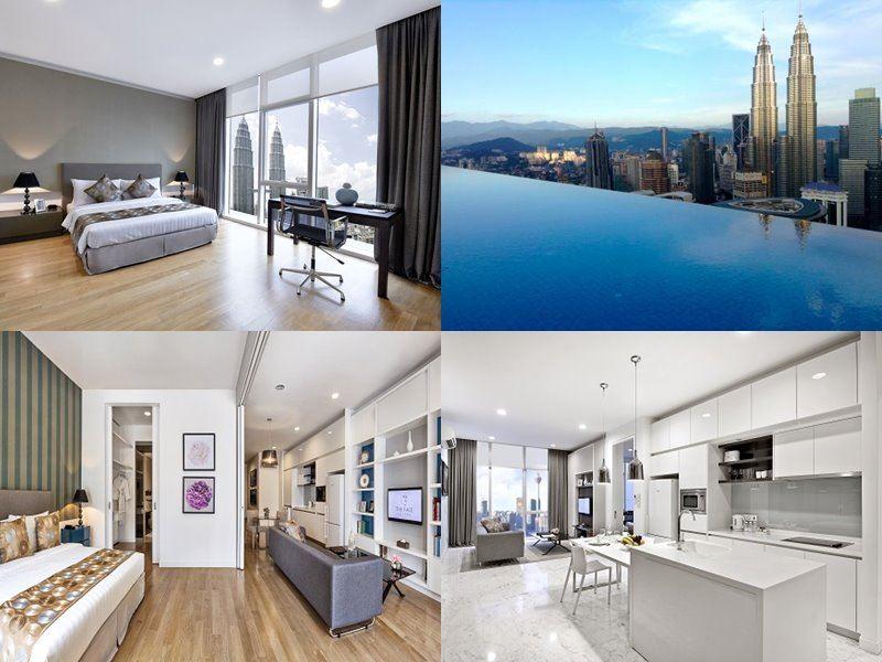 Отели Куала-Лумпур с бассейном на крыше - The Face Suites (5 звёзд)