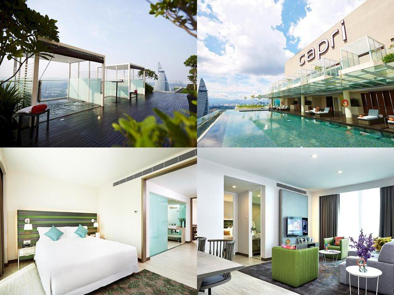 Отели Куала-Лумпур с бассейном на крыше - Capri by Fraser Kuala Lumpur (4 звезды)
