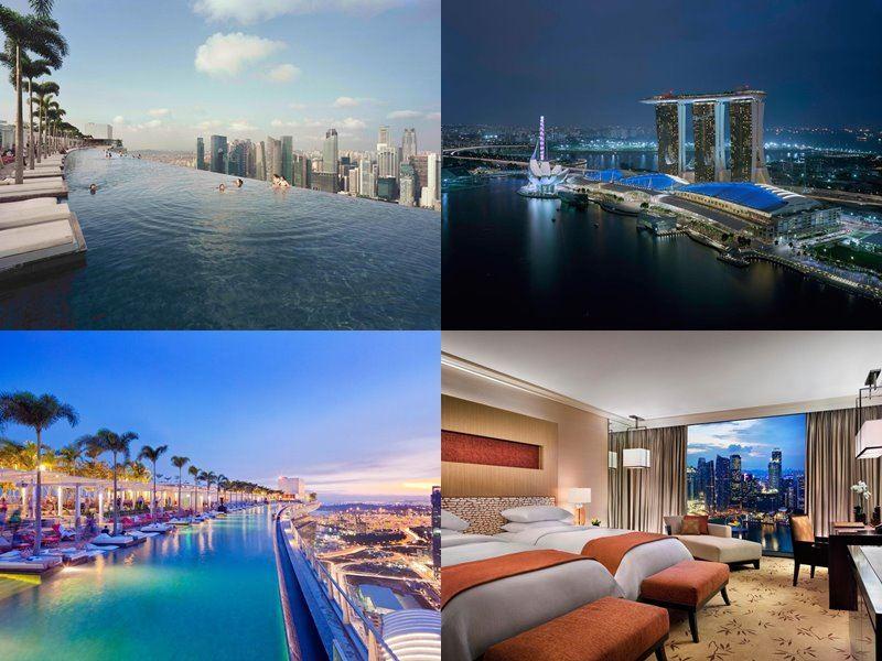 Отели Сингапура с бассейном на крыше - Marina Bay Sands (5 звёзд)