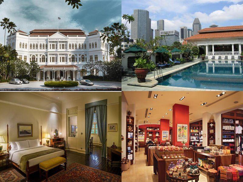 Отели Сингапура с бассейном на крыше - Raffles Hotel (5 звёзд)