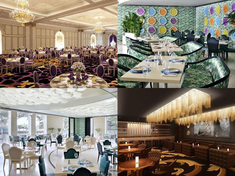Palazzo Versace Dubai - роскошные интерьеры ресторанов
