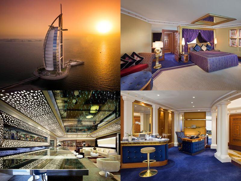 Лучшие дорогие luxury-отели Дубая 2017 - Burj Al Arab Jumeirah
