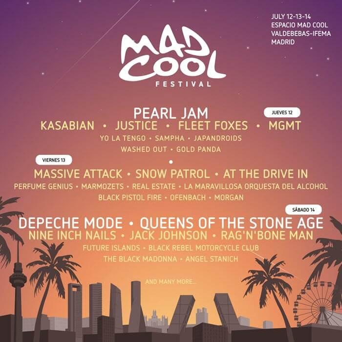 Музыкальный фестиваль Mad Cool в Мадриде (12–14 июля 2018)