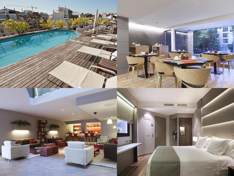 Отели Барселоны с бассейном на крыше - Hotel America (4 звезды)