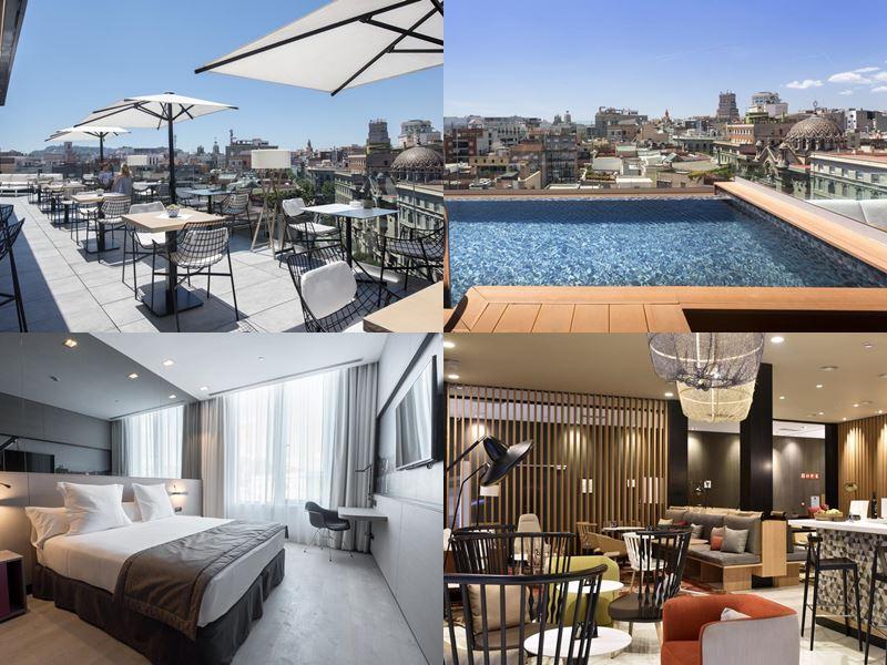 Отели Барселоны с бассейном на крыше - Negresco Princess (4 звезды)