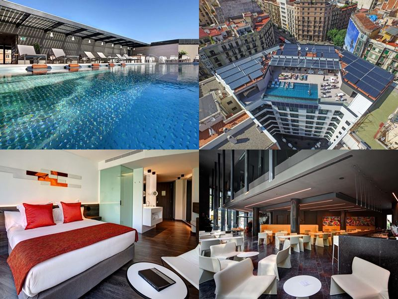 Отели Барселоны с бассейном на крыше - Olivia Balmes Hotel (4 звезды)