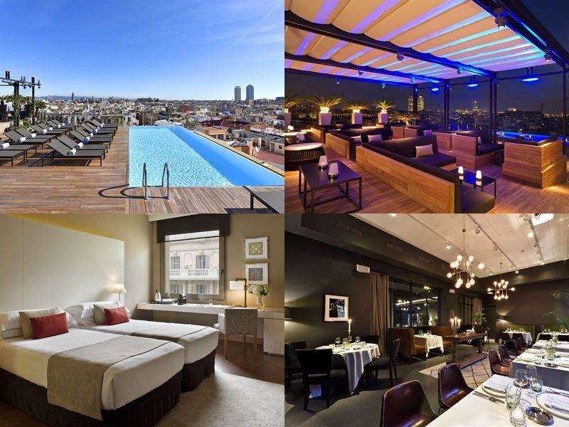 Отели Барселоны с бассейном на крыше - Grand Hotel Central (5 звёзд)