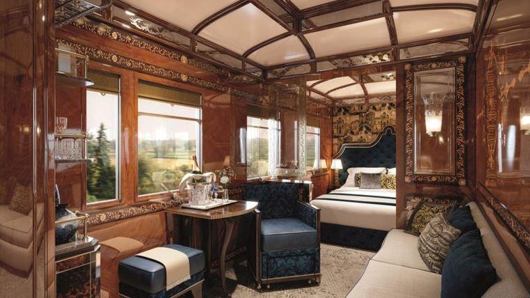 Купе Grand Suites на борту поезда Venice Simplon-Orient-Express