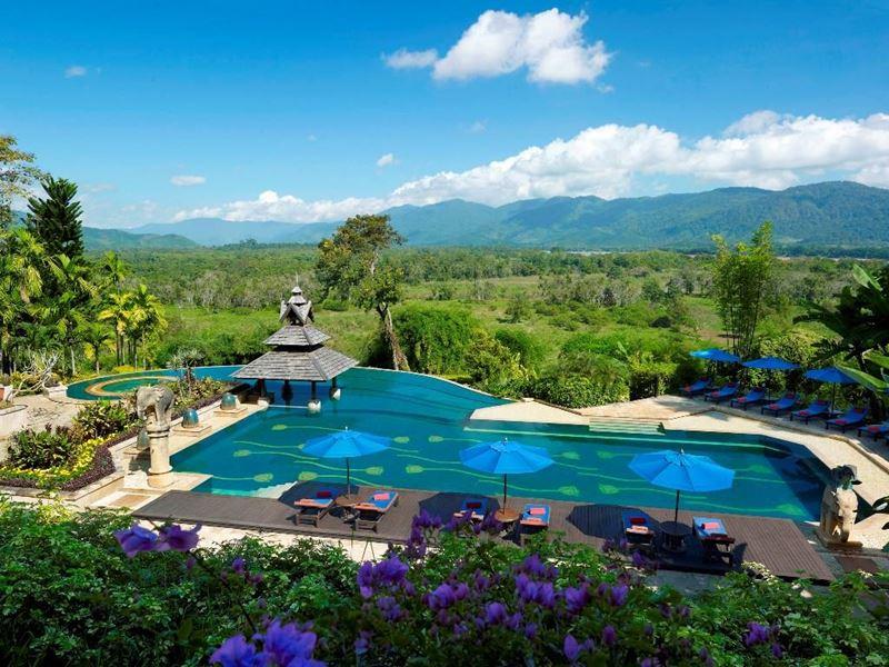 Отели с панорамными бассейнами инфинити - Anantara Golden Triangle (Таиланд, Чианграй)