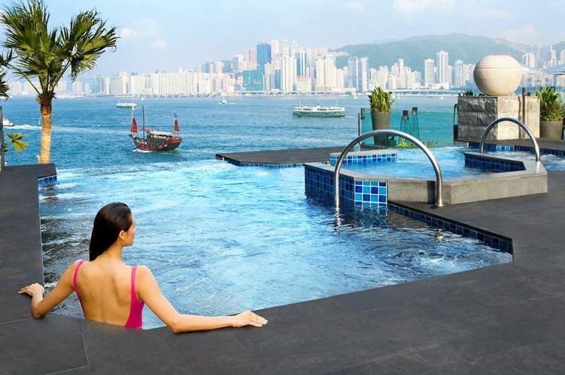 Отели с панорамными бассейнами инфинити - Intercontinental Hotel Hong Kong (Гонконг)