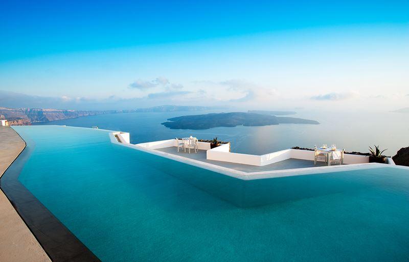 Отели с панорамными бассейнами инфинити - Grace Santorini (Греция, о. Санторини, Имеровигли)