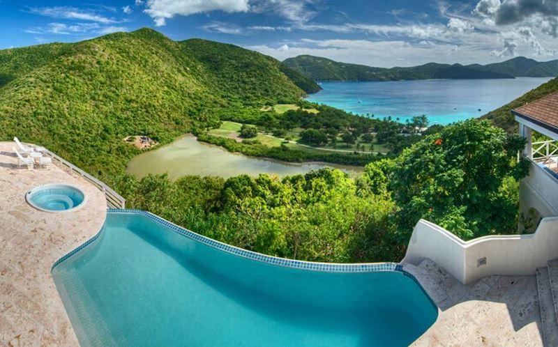 Отели с панорамными бассейнами инфинити - Harbour House Villa (Британские Виргинские острова, о. Гвана)