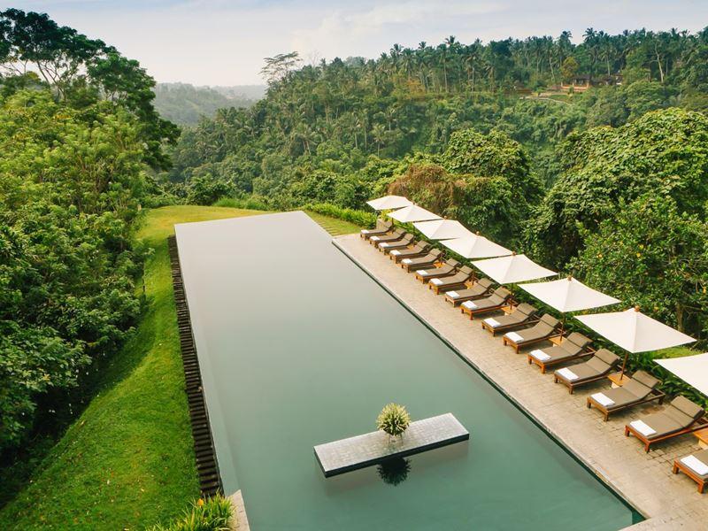 Отели с панорамными бассейнами инфинити - Alila Ubud Hotel (Индонезия, о. Бали, Убуд)