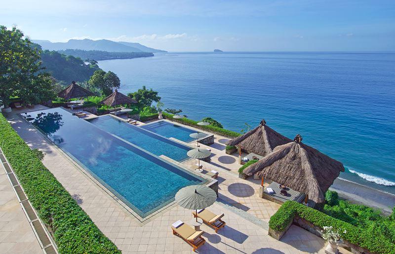 Отели с панорамными бассейнами инфинити - Amankila Resort (Индонезия, о. Бали)