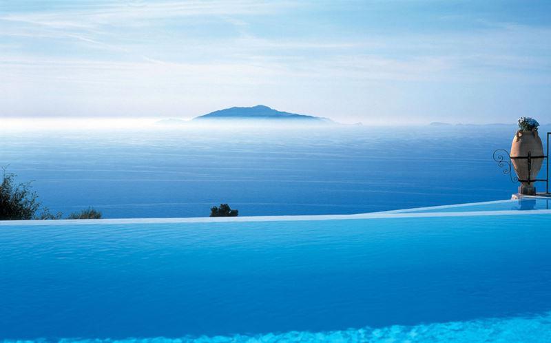 Отели с панорамными бассейнами инфинити - Caesar Augustus Hotel (Италия, о. Капри, Анакапри)