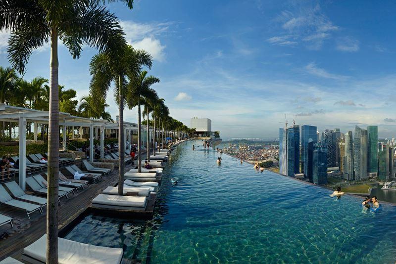Отели с панорамными бассейнами инфинити - Marina Bay Sands (Сингапур)