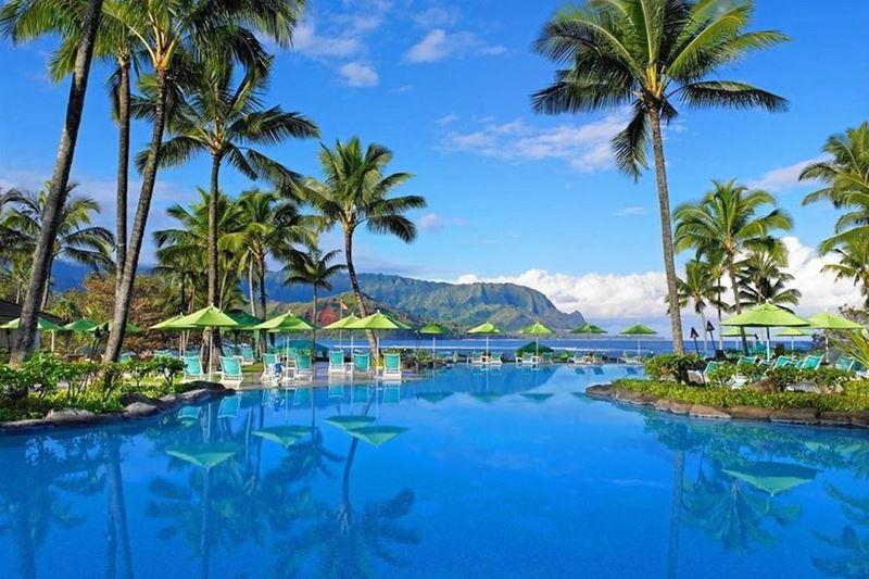 Отели с панорамными бассейнами инфинити - The St. Regis Princeville Resort (Гавайские острова, Принсвилл)