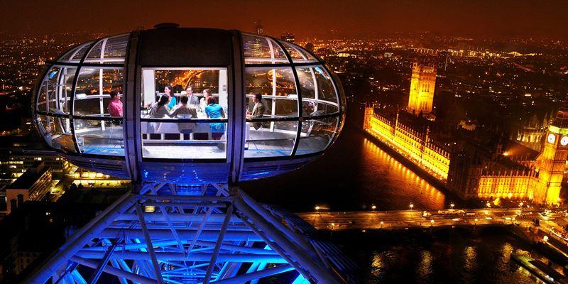Высокие панорамные рестораны: Dining at 135 на колесе обозрения London Eye (Лондон, Великобритания)