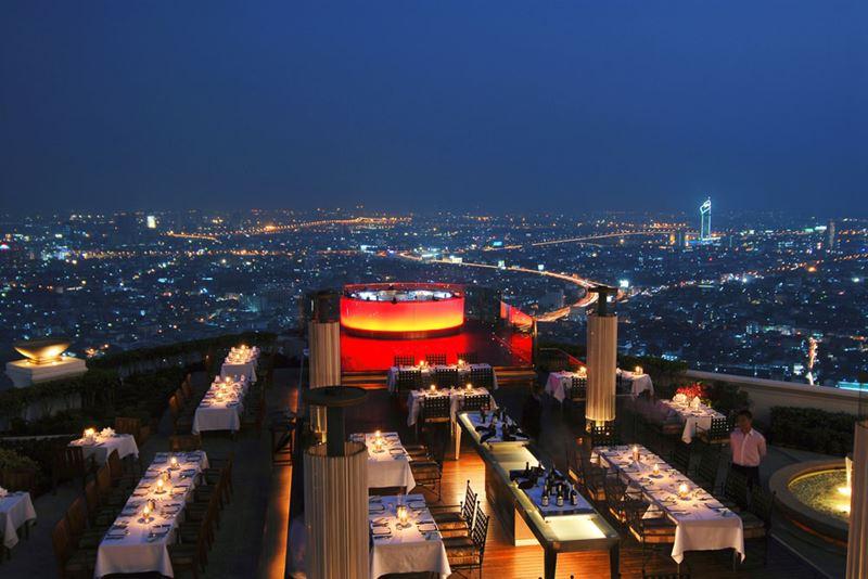 Высокие панорамные рестораны: Sirocco в небоскрёбе «Стейт-тауэр» (Бангкок, Таиланд)