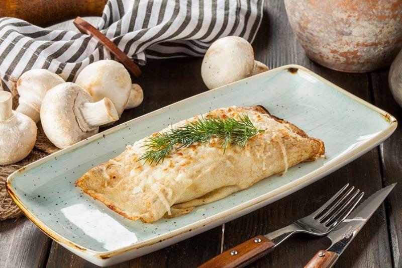 Масленица в ресторане «Кувшин» - блины с грибами и сыром
