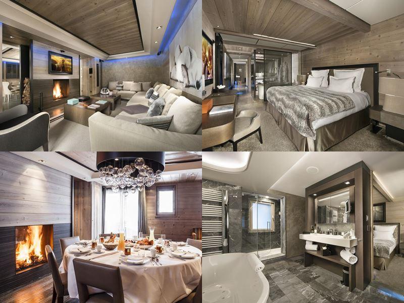 Grandes Alpes Private Hotel & Spa - дизайн интерьера номеров и ванной комнаты