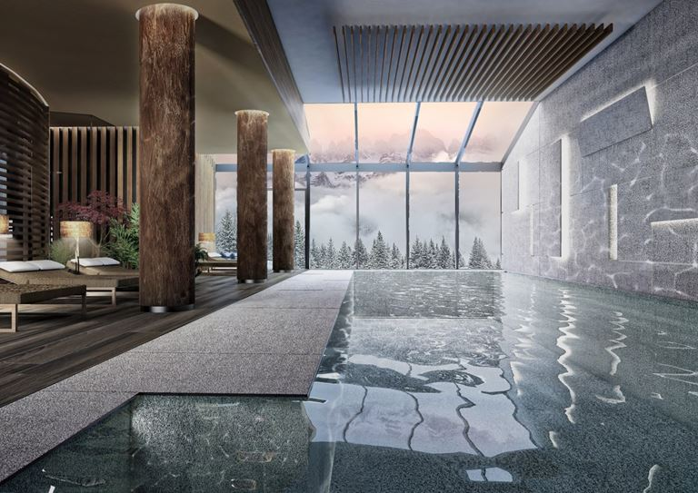 Велнес-курорт Lefay Resort & SPA Dolomiti в Доломитовых Альпах Италии