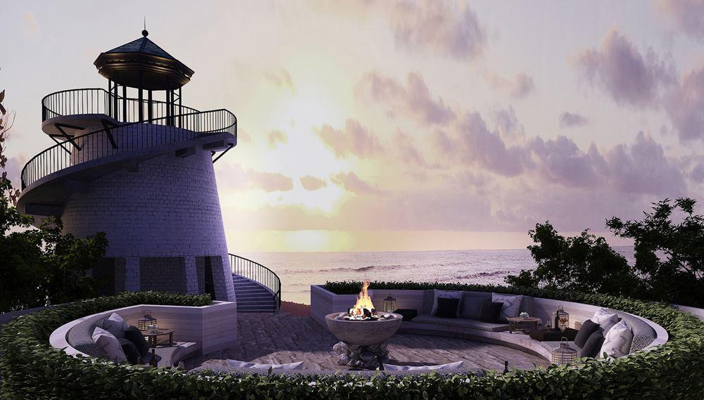 Отель Four Seasons Resort Seychelles at Desroches Island - Ресторан Lighthouse с панорамным видом