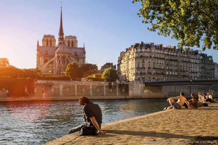 Париж летом - в июне, июле, августе - погода, улицы (видео)