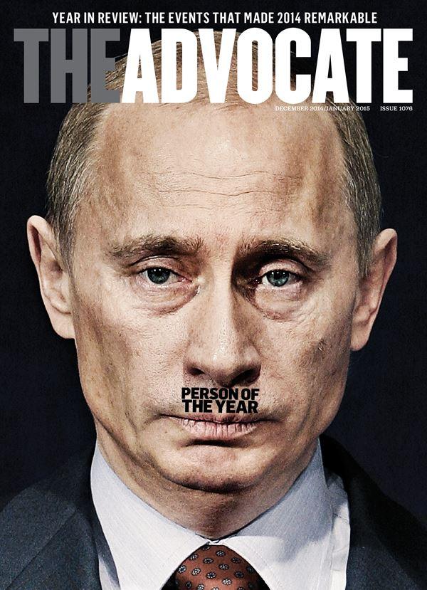 Владимир Путин фото обложек журналов - The Advocate (декабрь 2014 – январь 2015)