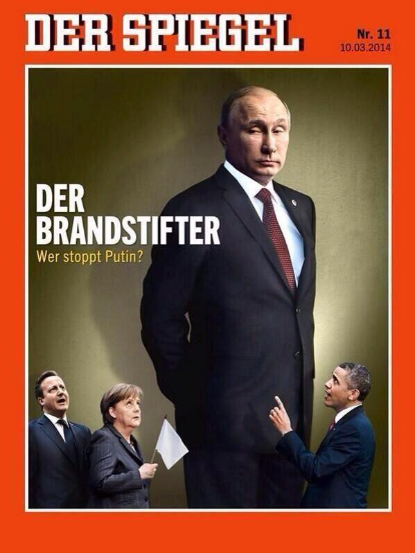 Владимир Путин фото обложек журналов - Der Spiegel (март 2014)