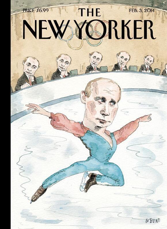 Владимир Путин фото обложек журналов - The New Yorker (февраль 2014)