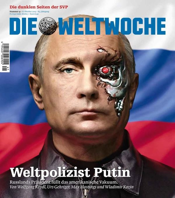 Владимир Путин фото обложек журналов - Die Weltwoche (октябрь 2015)