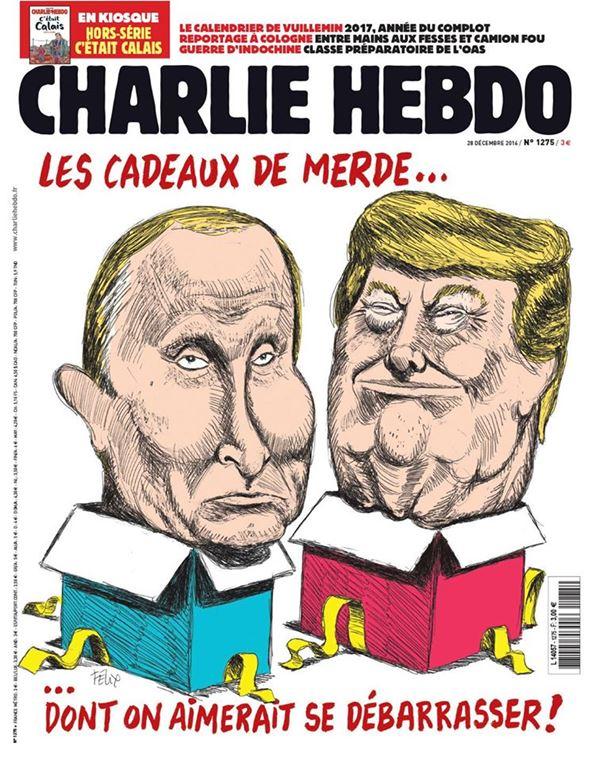 Владимир Путин фото обложек журналов - Charlie Hebdo (декабрь 2014)
