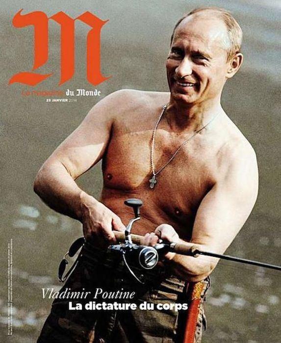 Владимир Путин фото обложек журналов - Le Monde (январь 2014)