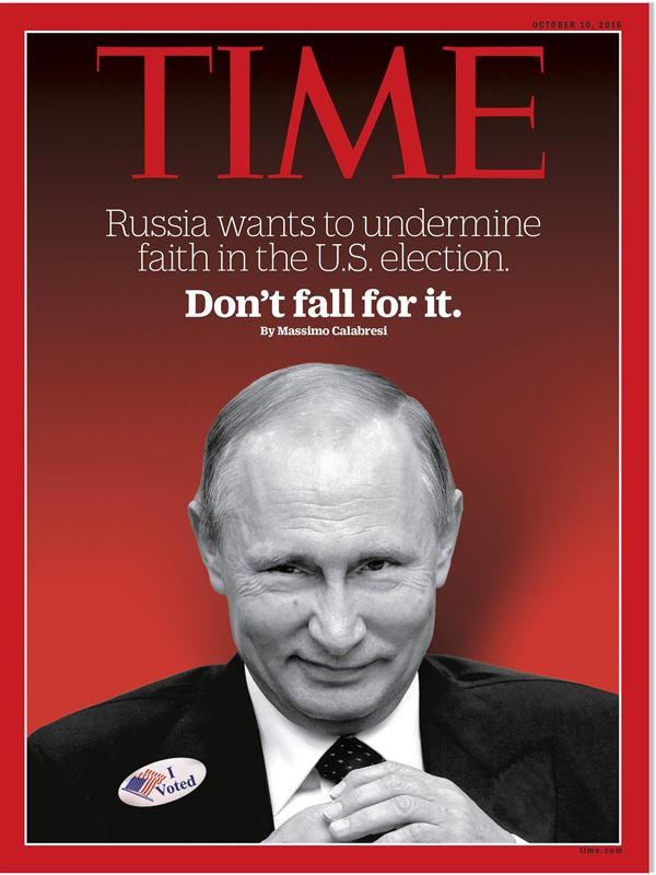 Владимир Путин фото обложек журналов - Time (октябрь 2016)
