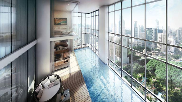 Four Seasons Hotel Kuala Lumpur - бассейн с видом на панораму города