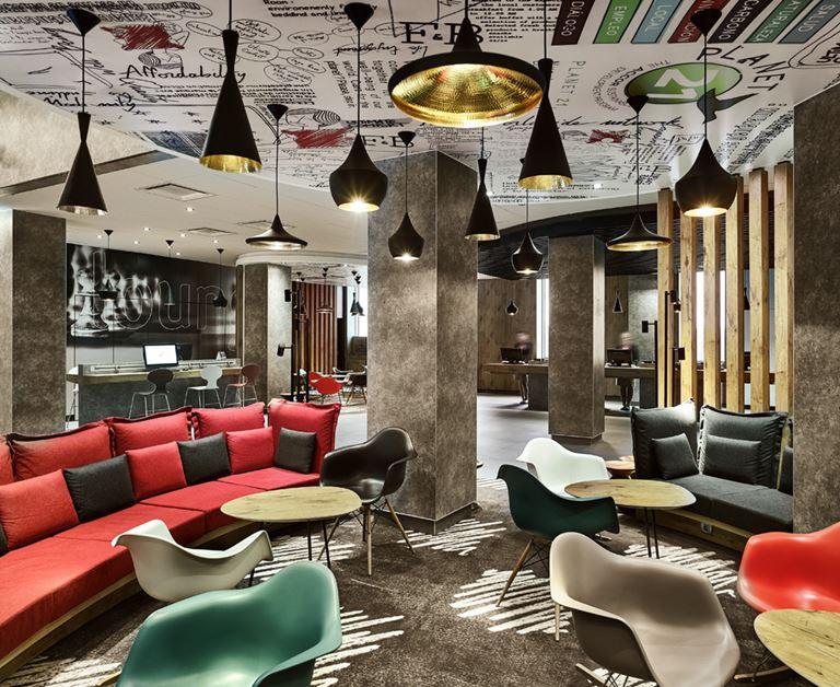 ibis Москва Домодедово Аэропорт - стильный дизайн интерьера