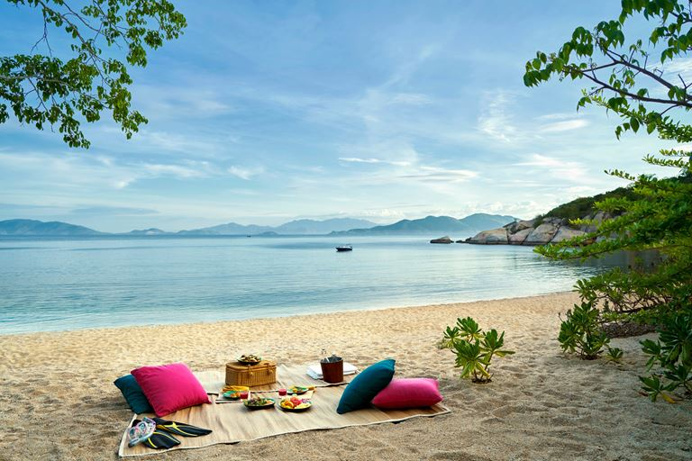 курорт Six Senses Ninh Van Bay - вид на океан